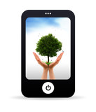 Mobile Phone and Tree alive poster