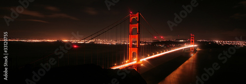 Zdjęcia na płótnie, fototapety, obrazy : Golden Gate Bridge at Night