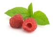 Raspberry with mint