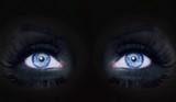 blue eyes darked face makeup black panther woman