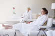 Women relaxing in spa