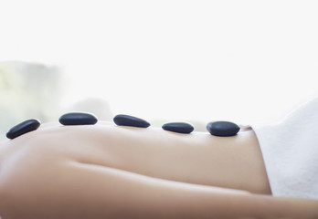 Woman receiving lastone therapy