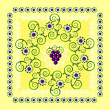 circle pattern with flower