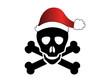 Bad Santa - Totenkopf mit Weihnachtsmütze - Christmas Skull