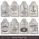 8 grungy nautical tags (download without sample text)
