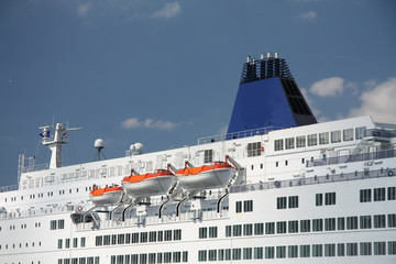 Detail of a cruise ship