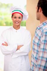 Chef on doorstep
