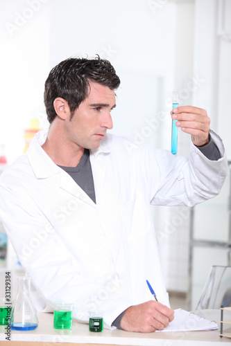 Man working in a lab