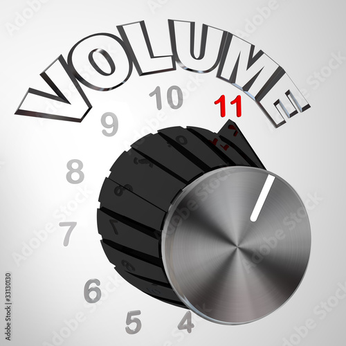 This One Goes to 11 - Volume Dial Knob Turned to Max