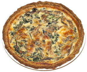 Spinach, Mushroom and Shallot Quiche