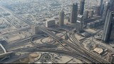 Highway junction in Dubai, United Arab Emirates poster