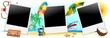 Foto Vacanze Mare Sfondo-Summer Holidays Background-Vector-1