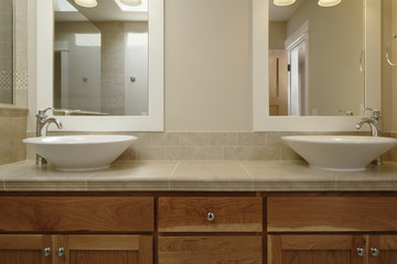 Dual Vessel Sink Vanity