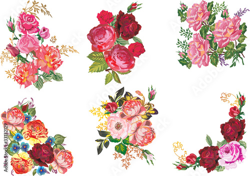 six bunch of roses collection