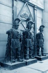 european-style city sculpture