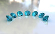 Set of seven round aquamarine stones