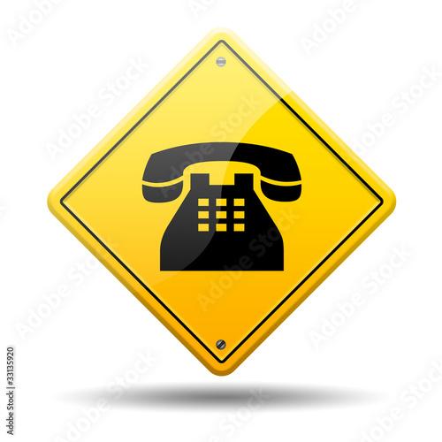 Simbolo Telefono Amarilla Simbolo Telefono