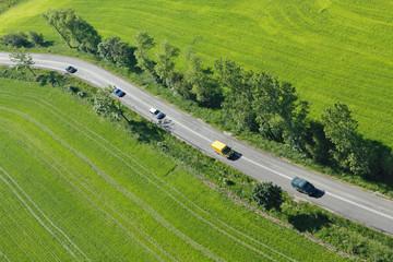 Photo aérienne  route de campagne