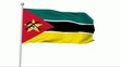 Fahne Mosambik NTSC