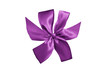 purple gift ribbon with bow isolated on white background