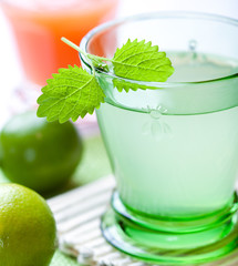 Lime juice with lemon mint