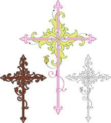 Flourish cross design