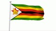 Fahne Simbabwe NTSC