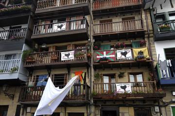 europa, spagna, paesi baschi, san sebastian, bandiere eta