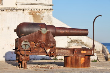 Old cannon in Tanger, Morocco