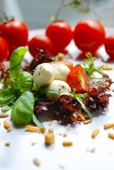 salat - tomaten - mozzarella