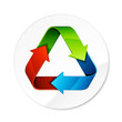 logo recyclage - recycle symbol
