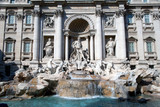 Trevi Fountain. Famous landmark in Rome poster