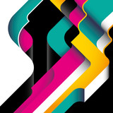 Designed modernistic abstraction in color. poster