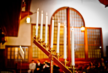 Wedding candles at the church