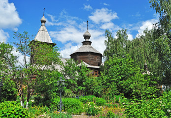Ancient wooden church of Sergey Radonezhsky in Murom, Russia