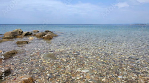 Ultra wide-angle shot - mediterranean sea and rocks