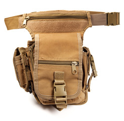 Military waist bag isolated on white