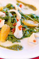 salad with calamari and orange