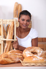 Woman in a bakers