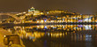 Vila Nova de Gaia at night opposite Porto, Portugal