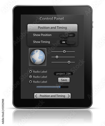 Tablet PC with UI elements