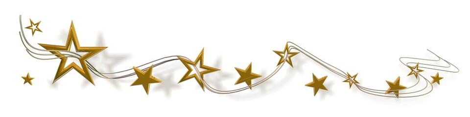 Sterne Gold auf Weiß - banner 01