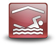 "Red 3D Effect Icon ""Indoor Swimming"""