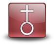 "Red 3D Effect Icon ""Church"""
