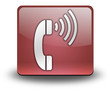 "Red 3D Effect Icon ""Telephone"""