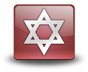 "Red 3D Effect Icon ""Star Of David"""