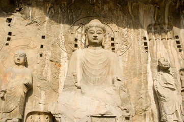 ancient statue of buddha