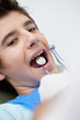 Boy receiving dental treatment