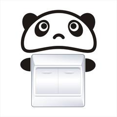 熊猫开关贴