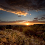Desert Scenics: Stormy Sunset - Fine Art prints
